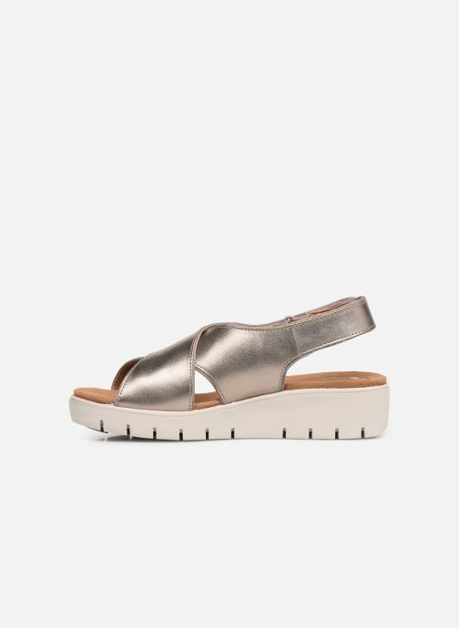 Sandals Clarks Unstructured UN KARELY SUN Silver front view
