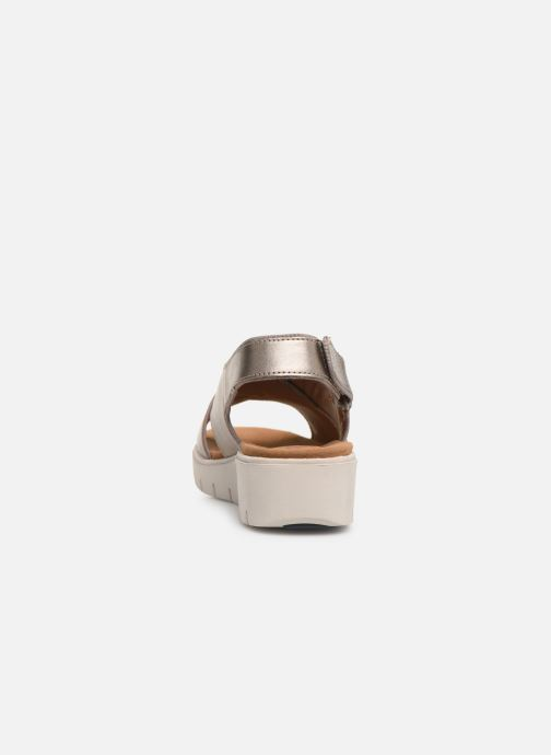 Sandals Clarks Unstructured UN KARELY SUN Silver view from the right