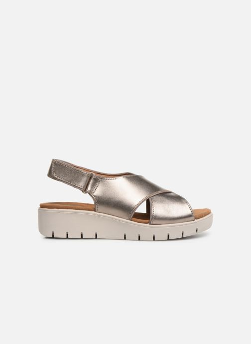Sandals Clarks Unstructured UN KARELY SUN Silver back view