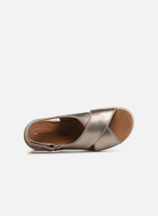 Sandals Clarks Unstructured UN KARELY SUN Silver view from the left