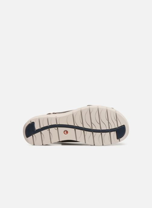 Sandals Clarks Unstructured UN KARELY SUN Silver view from above