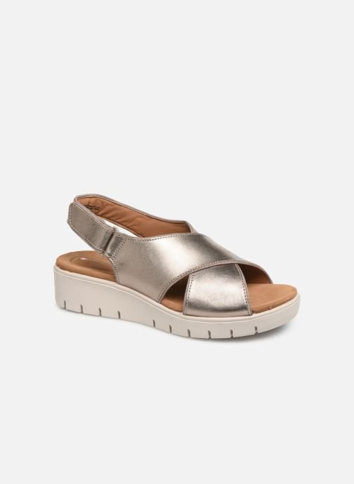 Sandals Clarks Unstructured UN KARELY SUN Silver detailed view/ Pair view