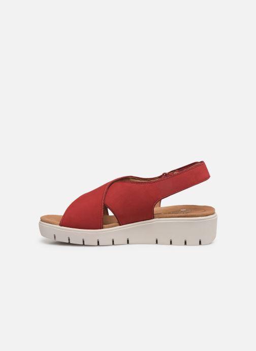 Sandales et nu-pieds Clarks Unstructured UN KARELY SUN Rouge vue face
