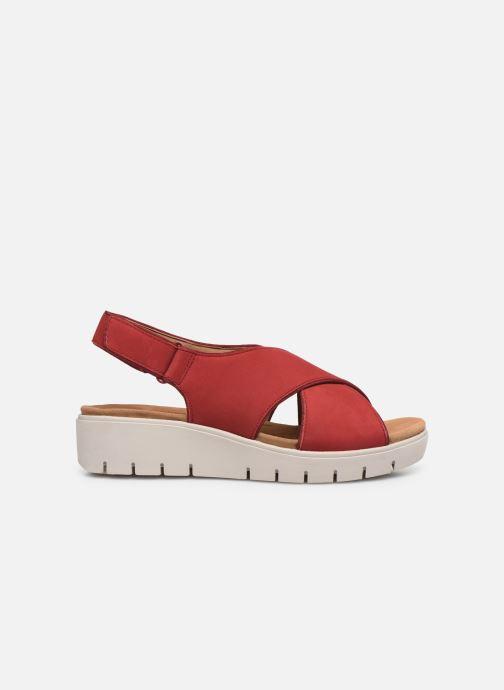 Sandales et nu-pieds Clarks Unstructured UN KARELY SUN Rouge vue derrière
