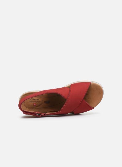 Sandali e scarpe aperte Clarks Unstructured UN KARELY SUN Rosso immagine sinistra