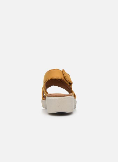 Sandali e scarpe aperte Clarks Unstructured UN KARELY SUN Giallo immagine destra