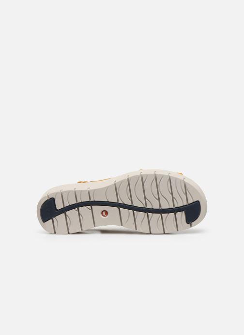 Sandali e scarpe aperte Clarks Unstructured UN KARELY SUN Giallo immagine dall'alto