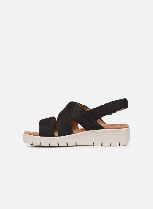 Sandales et nu-pieds Clarks Unstructured UN KARELY DEW Noir vue face