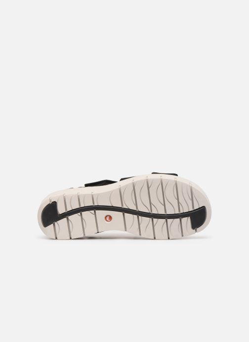 Sandales et nu-pieds Clarks Unstructured UN KARELY DEW Noir vue haut