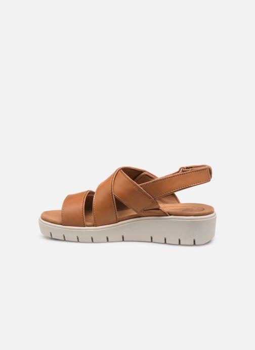 Sandales et nu-pieds Clarks Unstructured UN KARELY DEW Marron vue face