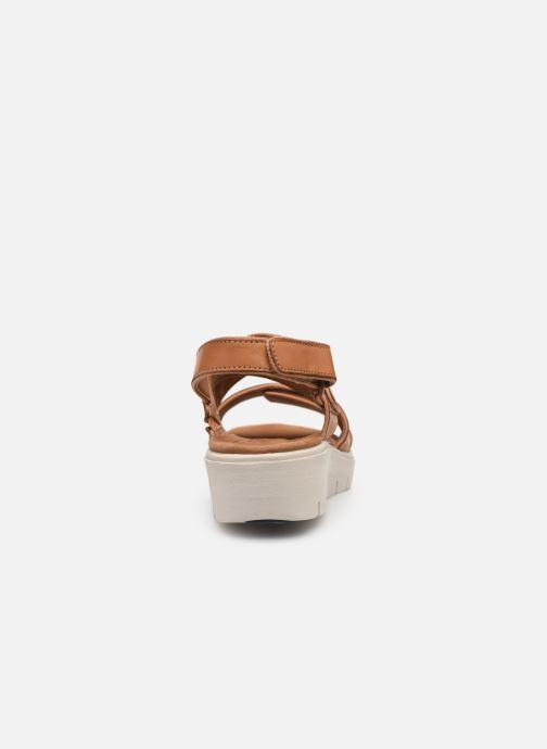 Sandales et nu-pieds Clarks Unstructured UN KARELY DEW Marron vue droite