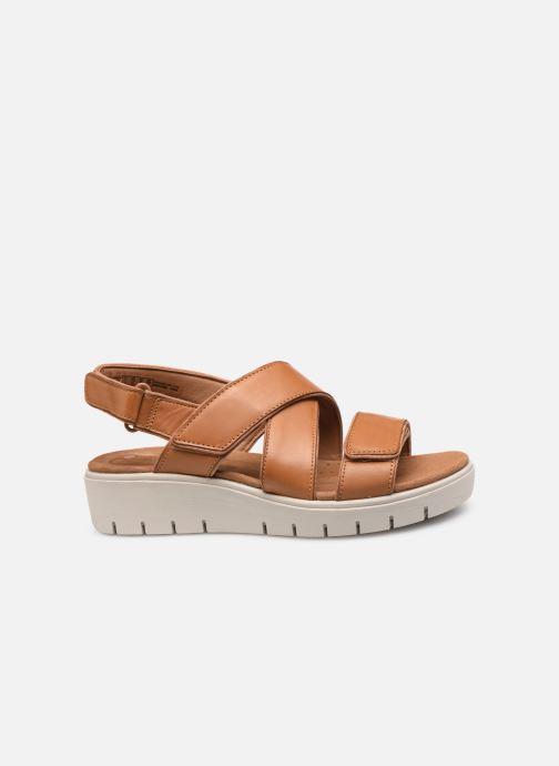 Sandales et nu-pieds Clarks Unstructured UN KARELY DEW Marron vue derrière