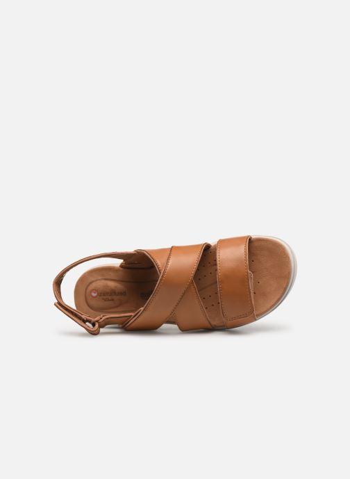 Sandales et nu-pieds Clarks Unstructured UN KARELY DEW Marron vue gauche