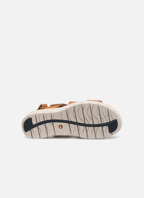 Sandales et nu-pieds Clarks Unstructured UN KARELY DEW Marron vue haut