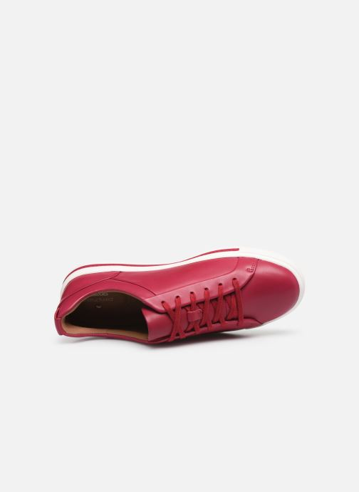 Sneakers Clarks Unstructured UN MAUI LACE Rosso immagine sinistra