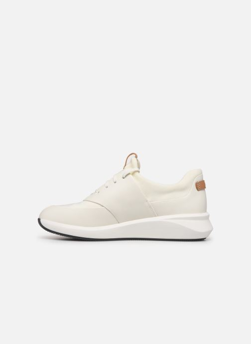 Sneakers Clarks Unstructured UN RIO LACE Wit voorkant