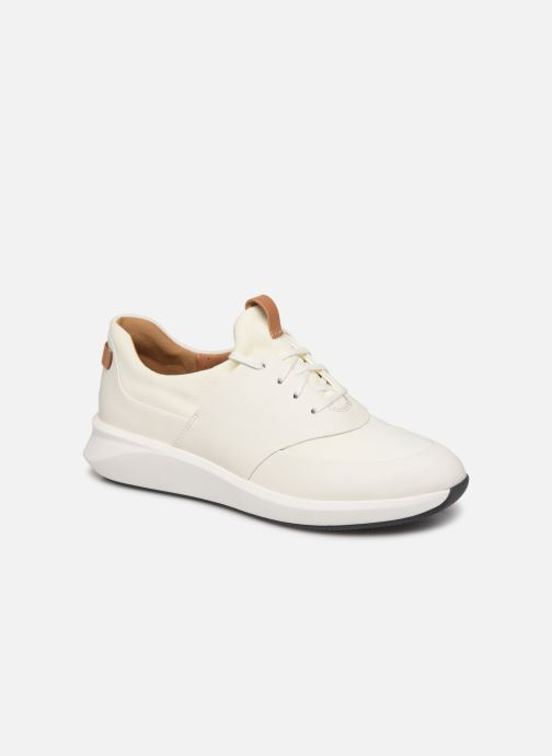 Baskets Clarks Unstructured UN RIO LACE Blanc vue détail/paire