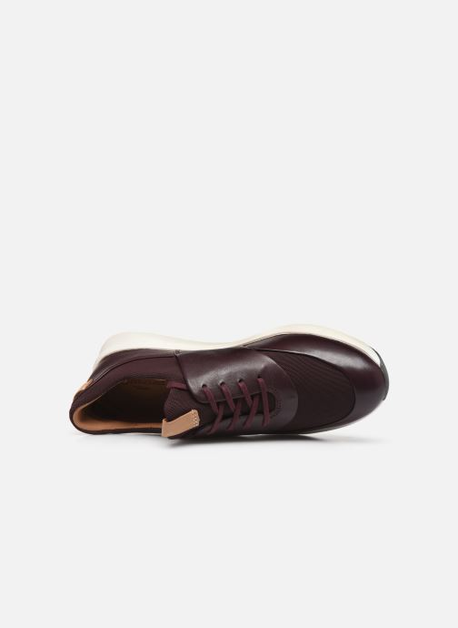 Baskets Clarks Unstructured UN RIO LACE Bordeaux vue gauche
