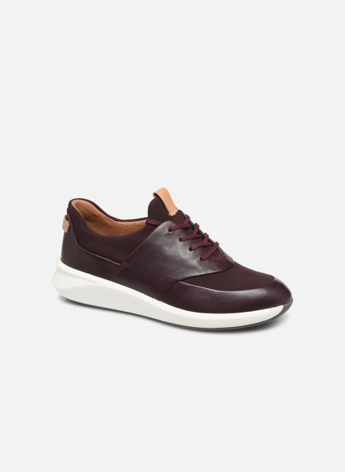 Baskets Clarks Unstructured UN RIO LACE Bordeaux vue détail/paire
