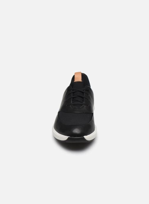 Sneaker Clarks Unstructured UN RIO LACE schwarz schuhe getragen