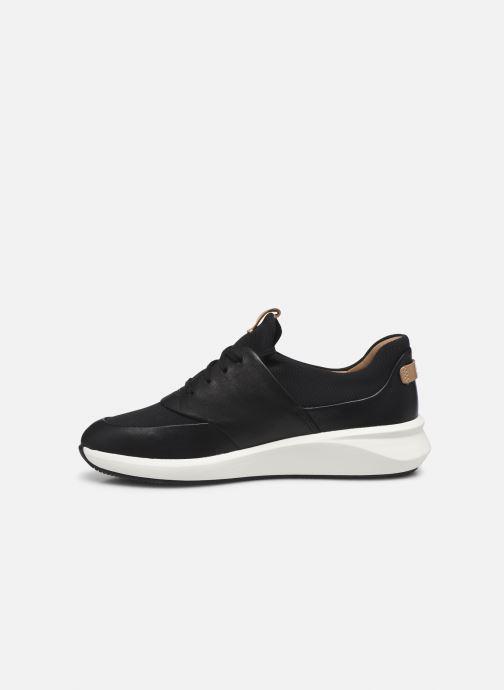 Sneaker Clarks Unstructured UN RIO LACE schwarz ansicht von vorne
