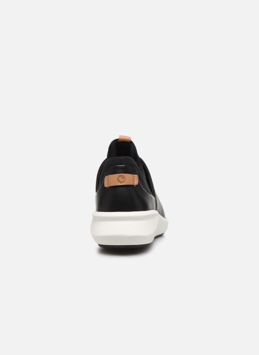 Trainers Clarks Unstructured UN RIO LACE Black view from the right
