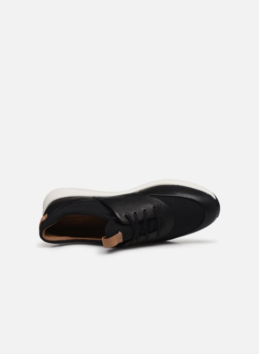 Trainers Clarks Unstructured UN RIO LACE Black view from the left