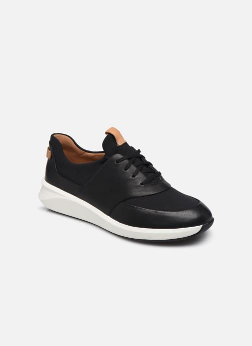 Baskets Clarks Unstructured UN RIO LACE Noir vue détail/paire