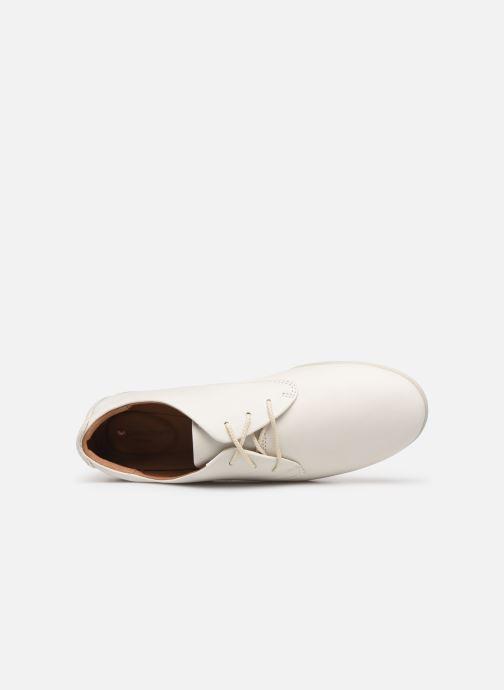 Scarpe con lacci Clarks Unstructured UN CORAI LACE Bianco immagine sinistra