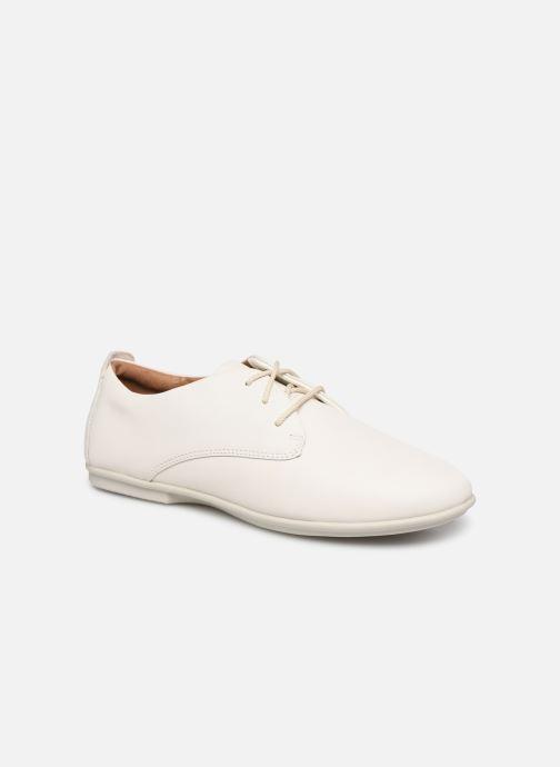 Snøresko Clarks Unstructured UN CORAI LACE Hvid detaljeret billede af skoene