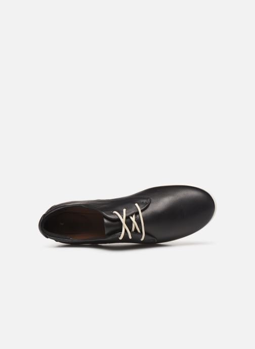 Lace-up shoes Clarks Unstructured UN CORAI LACE Black view from the left