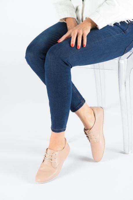 Chaussures à lacets Clarks Unstructured UN CORAL LACE Rose vue bas / vue portée sac