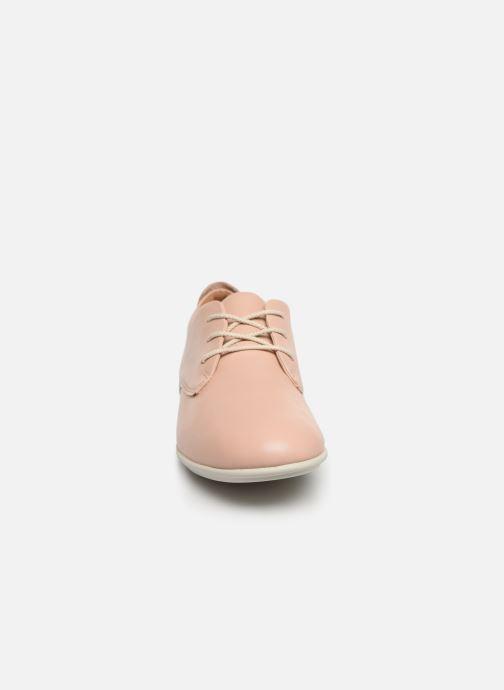 Chaussures à lacets Clarks Unstructured UN CORAL LACE Rose vue portées chaussures
