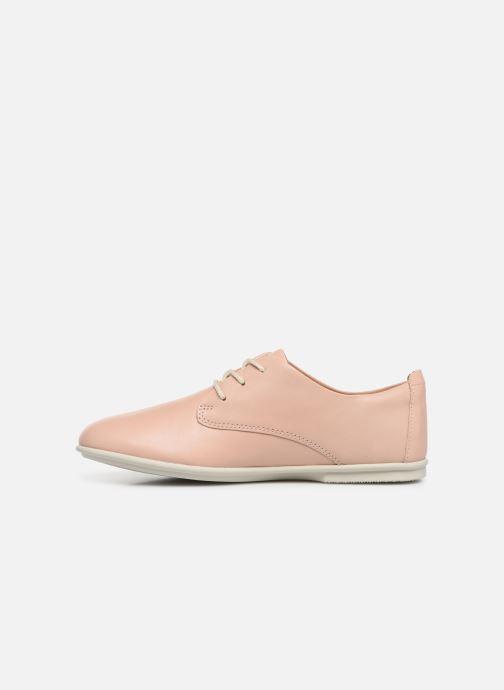 Chaussures à lacets Clarks Unstructured UN CORAL LACE Rose vue face
