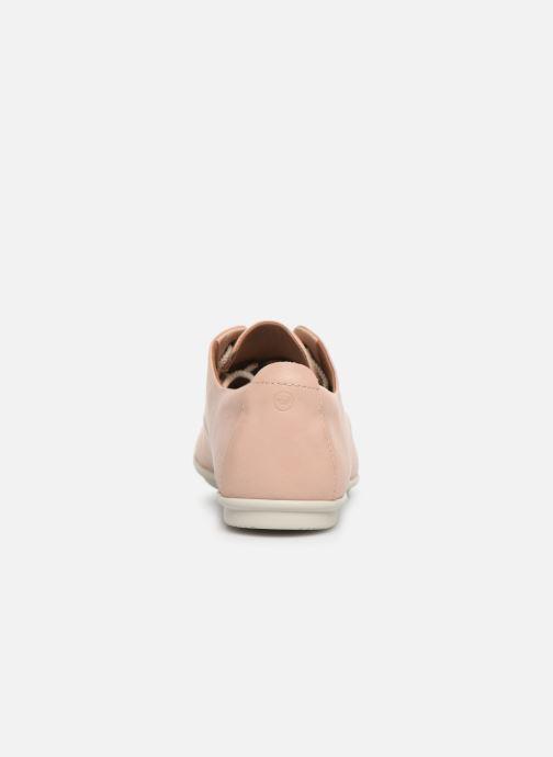 Chaussures à lacets Clarks Unstructured UN CORAL LACE Rose vue droite