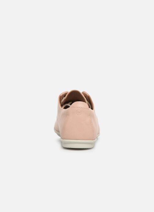 Lace-up shoes Clarks Unstructured UN CORAL LACE Pink view from the right