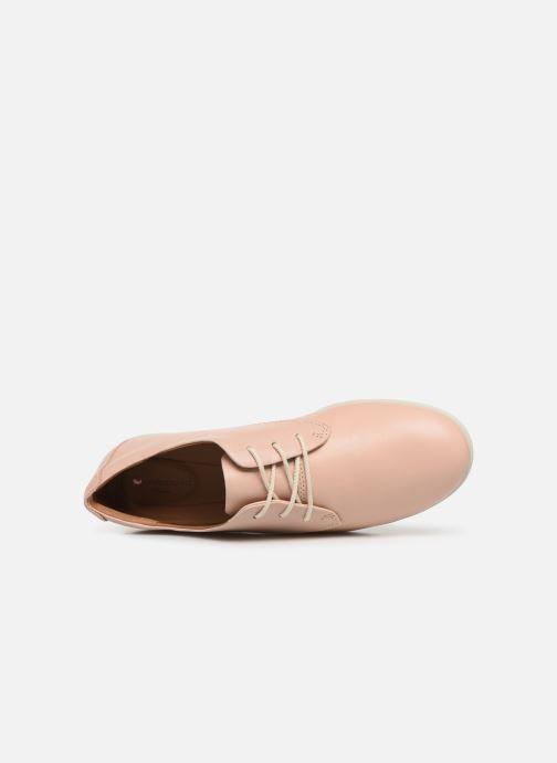 Chaussures à lacets Clarks Unstructured UN CORAL LACE Rose vue gauche