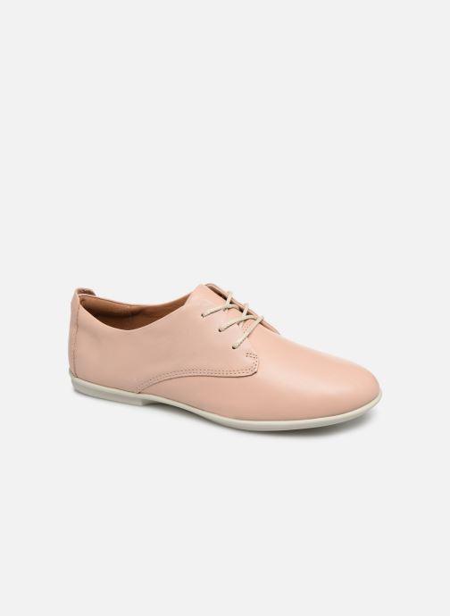 Chaussures à lacets Clarks Unstructured UN CORAL LACE Rose vue détail/paire