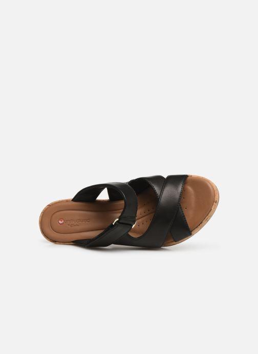 Clarks Black Mules Sabots Leather Plaza Un Unstructured Slide Et NkO8w0PnX