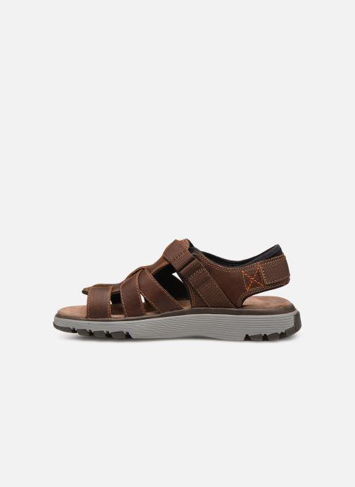 Sandales et nu-pieds Clarks Unstructured UN TREK COVE Marron vue face