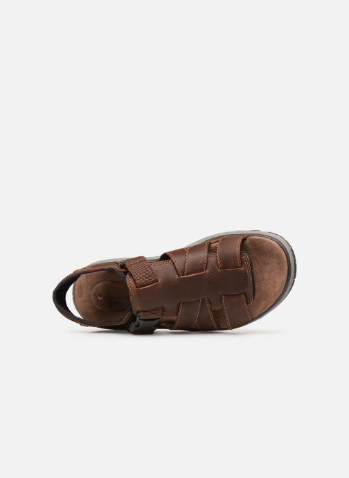 Sandales et nu-pieds Clarks Unstructured UN TREK COVE Marron vue gauche