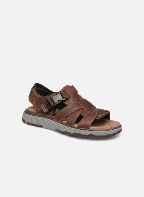 Sandales et nu-pieds Clarks Unstructured UN TREK COVE Marron vue détail/paire