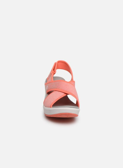 Sandals Cloudsteppers by Clarks Step Cali Cove Orange model view