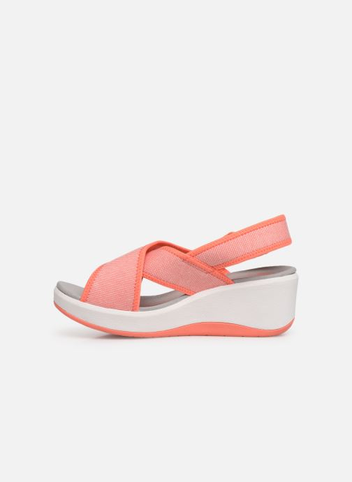Sandalias Cloudsteppers by Clarks Step Cali Cove Naranja vista de frente