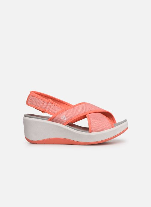 Sandals Cloudsteppers by Clarks Step Cali Cove Orange back view