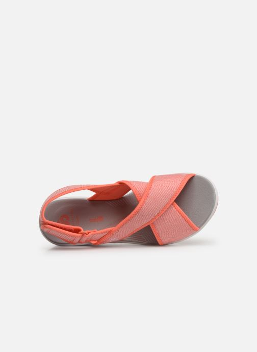 Sandalias Cloudsteppers by Clarks Step Cali Cove Naranja vista lateral izquierda