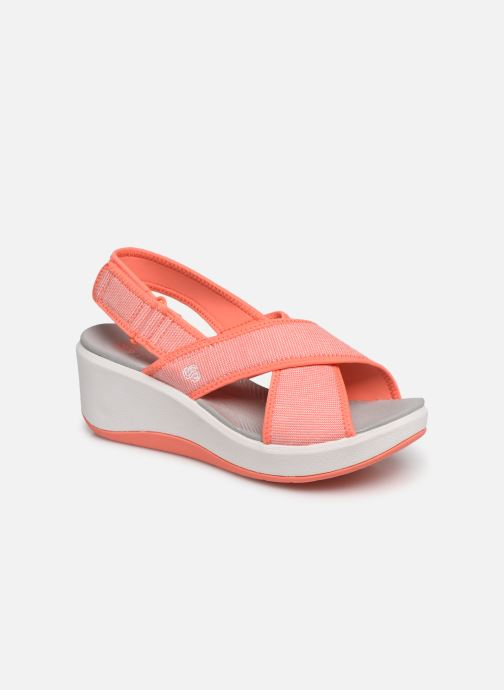Sandals Cloudsteppers by Clarks Step Cali Cove Orange detailed view/ Pair view
