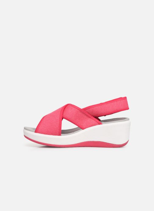 Sandalias Cloudsteppers by Clarks Step Cali Cove Rosa vista de frente