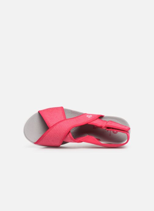 Sandalias Cloudsteppers by Clarks Step Cali Cove Rosa vista lateral izquierda