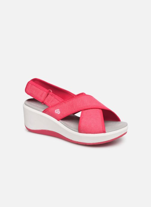 45937529670a Sandals Cloudsteppers by Clarks Step Cali Cove Pink detailed view  Pair view
